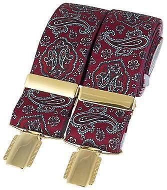 David Van Hagen Classic Paisley mode Brace - rouge