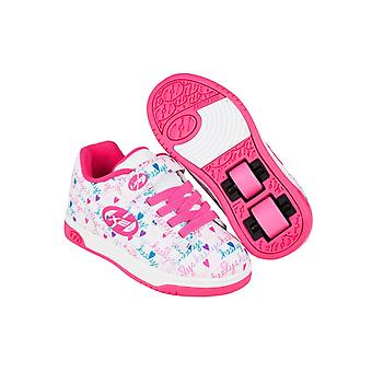 Heelys White-Pink-Multi Dual Up Girls Two Wheel Shoe