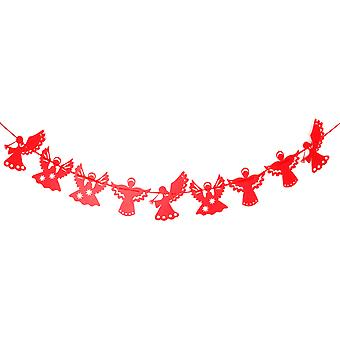 TRIXES Red Angel Bunting Festive Christmas Decoration 3.2 Metres