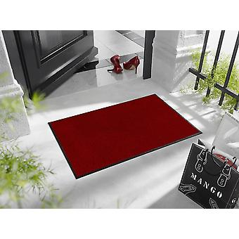 Regal red wash + dry washable floor mat - Ruby Red