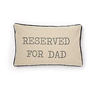 Sasse & Belle Reserved For Dad Cushion With Filler