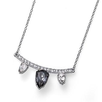 Oliver Weber Pendant Trilliant Triple Drop Rhodium, Silver Night
