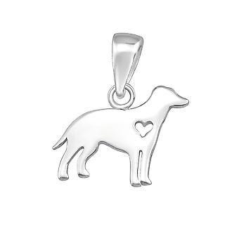 Dog - 925 Sterling Silver Plain Pendants - W36741x