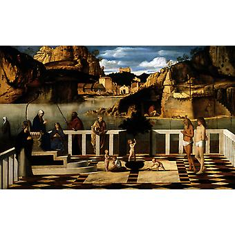 Sacred Allegory, Giovanni Bellini, 40x60cm with tray