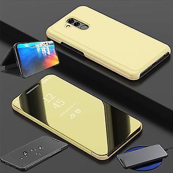 Duidelijk beeld mirror spiegel slimme cover goud voor Huawei mate 20 Lite gevaldekking van het beschermende etui tas zaak nieuwe zaak wake UP functie