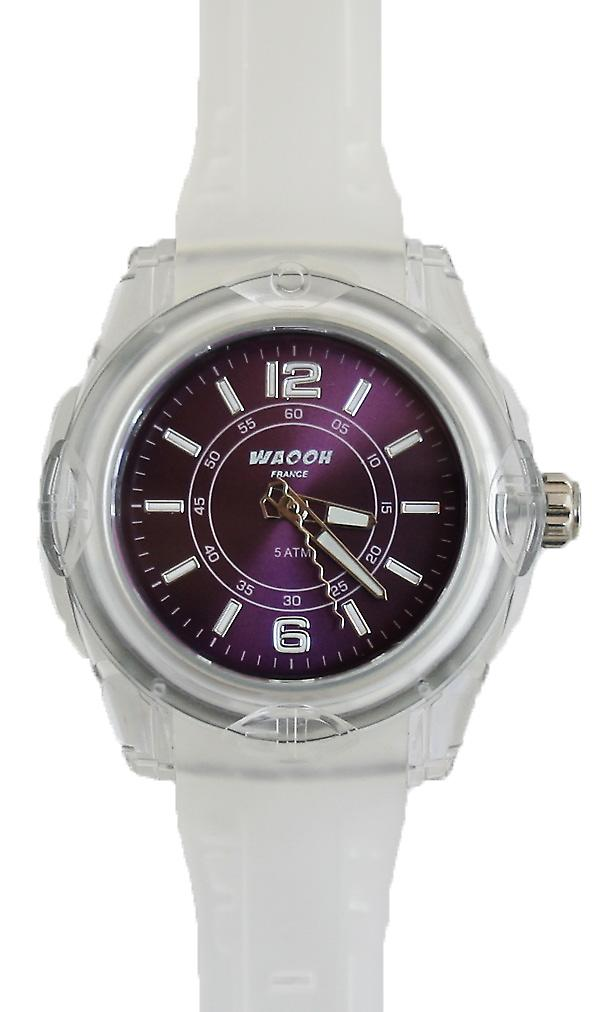 Waooh - MIAMI 44 Bracelet Watch White Dial Color