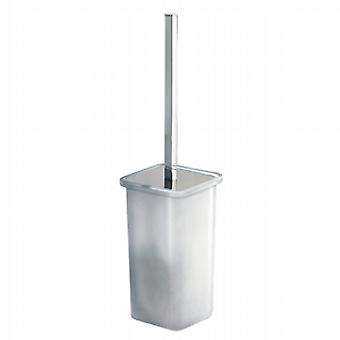 Gedy Glamour Toilet Brush Freestanding White Frosted Chrome 5733 02