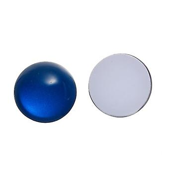 Packet 5 x Blue Glass Flat Back 20mm Coin 7mm Thick Cabochon Y08545