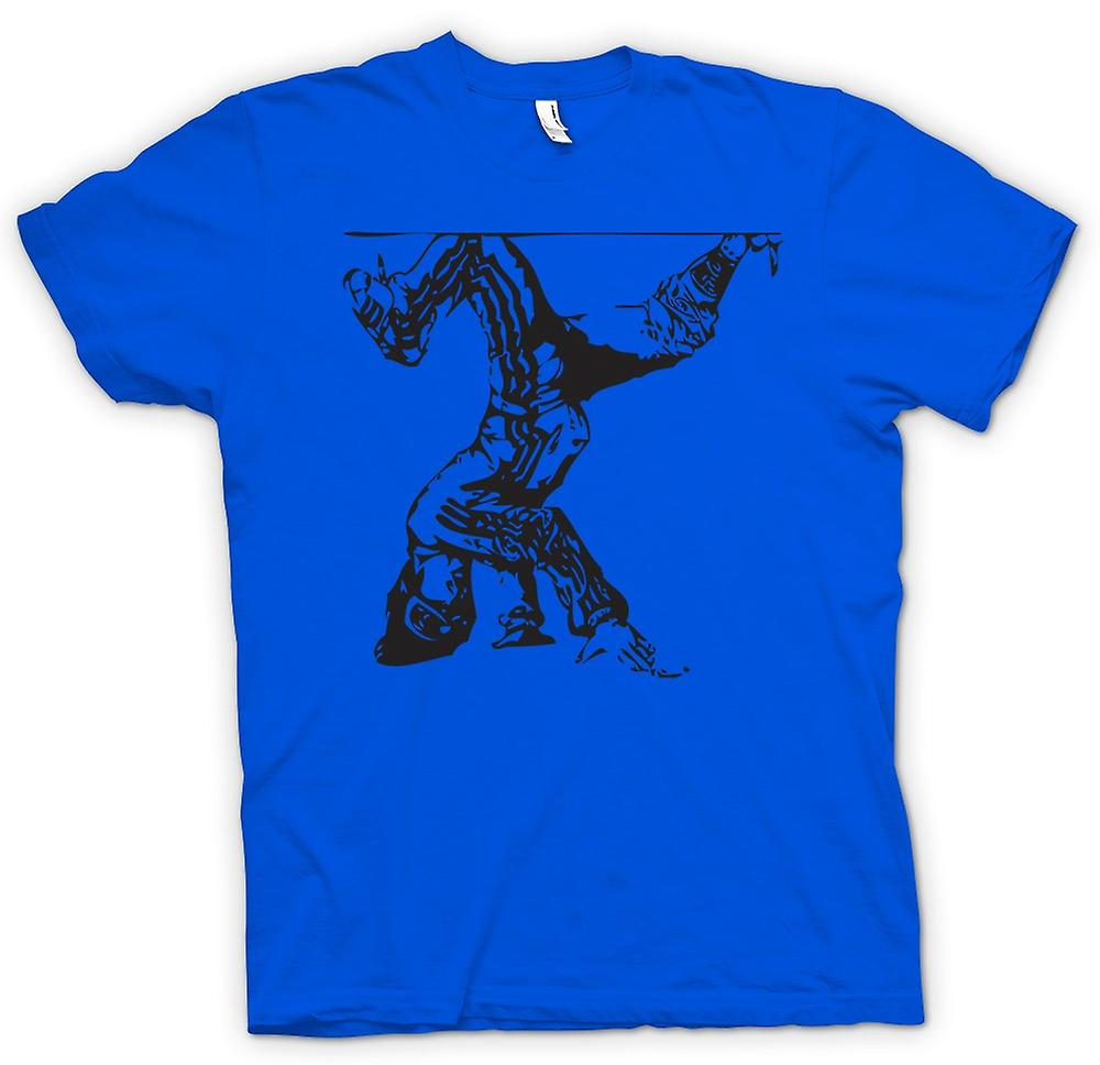 Herr T-shirt - Breakdancing Hip Hop - BW