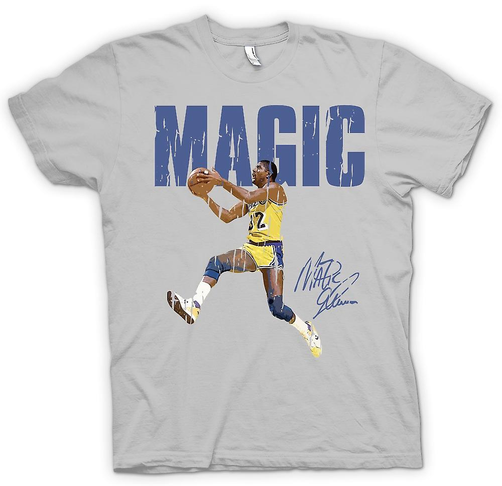 Mens T-shirt - magische springen - coole Basketball