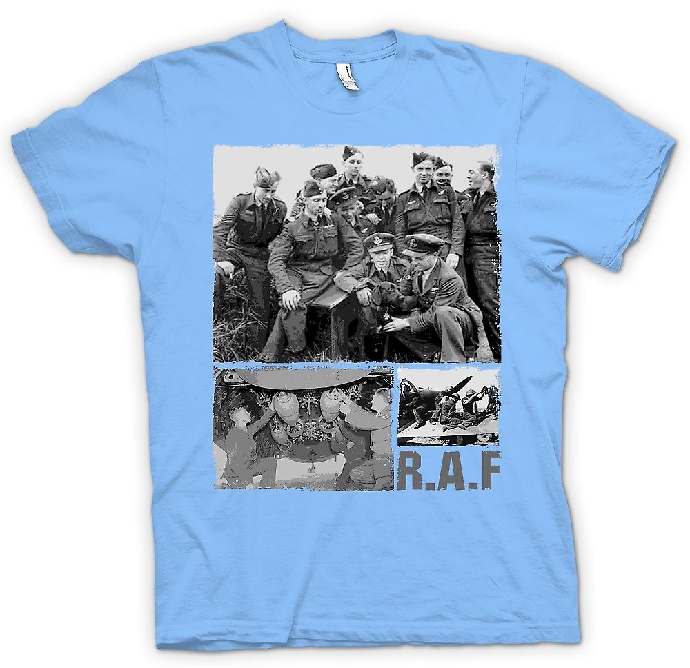 Mens T-shirt - R.A.F Royal Airforce- World War 2