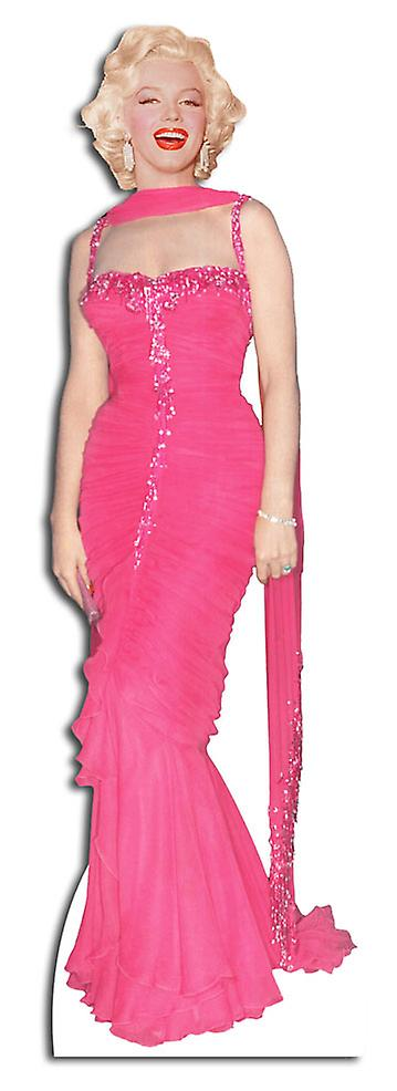 Marilyn Monroe wearing Pink Evening Gown / Dress - Lifesize Cardboard Cutout / Standee