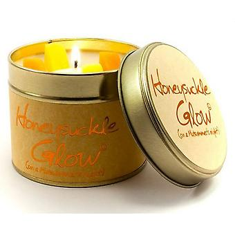 Lily Flame Scented Candle in a presentation Tin - Honeysuckle Glow
