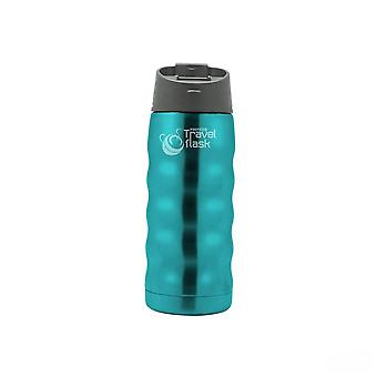 White with Green Writing 0.35 Litre Travel Flask