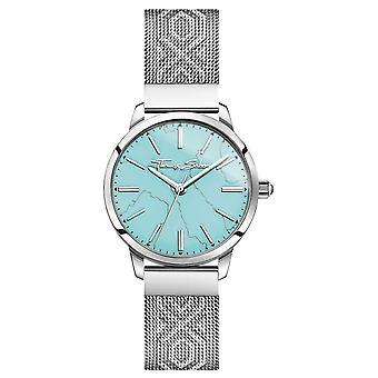 Thomas Sabo | Womens inox | Cadran turquoise | Bracelet de maille | WA0343-201-215-33