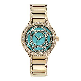 Michael Kors Watches Mk3481 Kerry Turquoise & Gold Tone Stainless Steel Ladies Watch