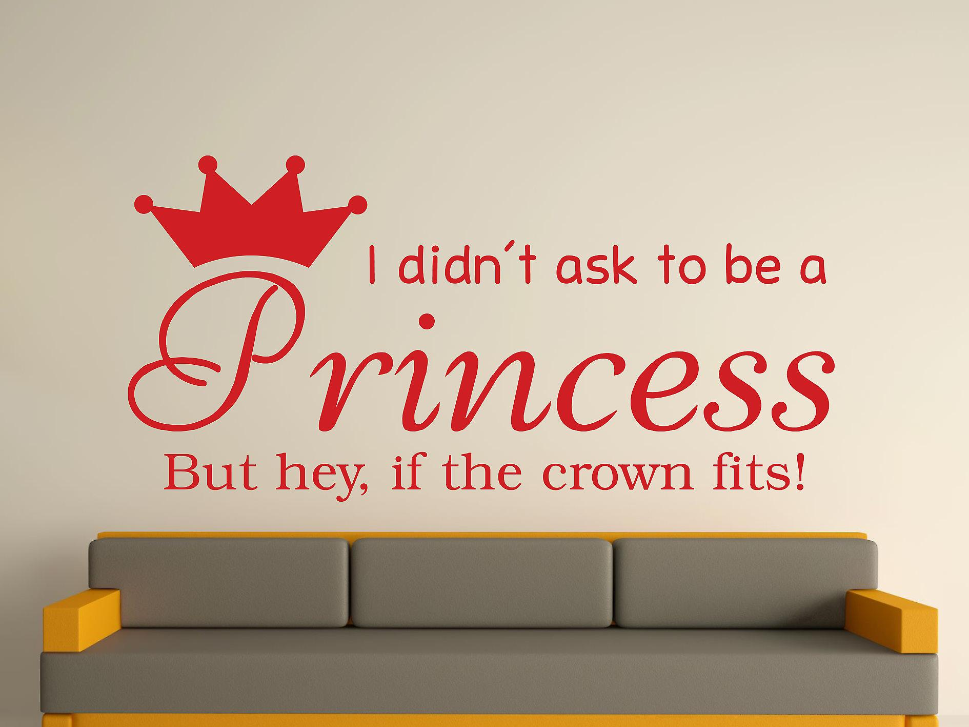 Ser una princesa v2 Wall Sticker Art - rojo oscuro