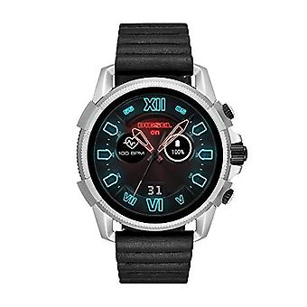 Diesel digital watch with leather strap DZT2008