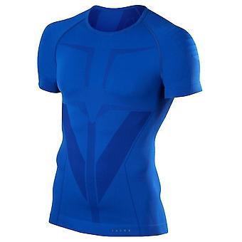 Falke enge Passform Kurzarm Shirt - Yve blau