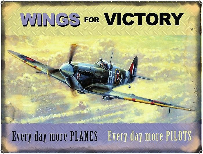 Wings For Victory Spitfire metal sign (og 4030)