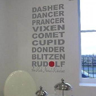 Rudolph & Friends Wall Quote