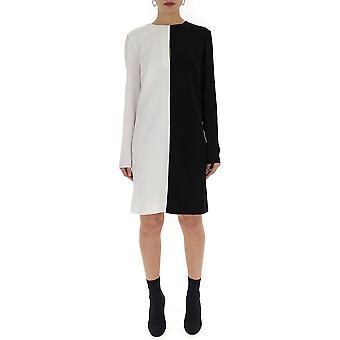 Givenchy White/black Silk Dress