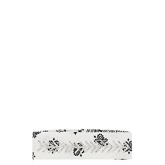 Fallon White Cotton Headband
