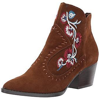 Aldo Womens Vivien Suede Pointed Toe Ankle Cowboy Boots