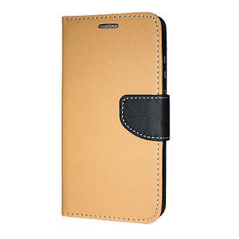 Huawei P30 Pro Wallet Pouch Fancy Case + Wrist Strap Gold