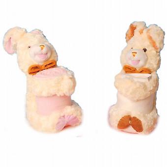 Sittande kanin/Bunny Holding fleecefilt * ett stycke levereras *