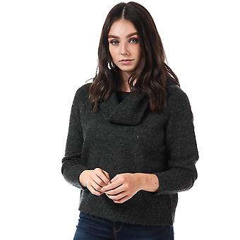 Womens Only Bergen Off Shoulder Jumper In Dark Grey Melange