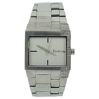 Firetrap Ladies Analogue Crystal Set All Stainless Steel Strap Watch FT1020S