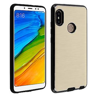 Xiaomi Redmi Note 5 Protective Soft Silicone Case Aluminum Reinforced edges Gold
