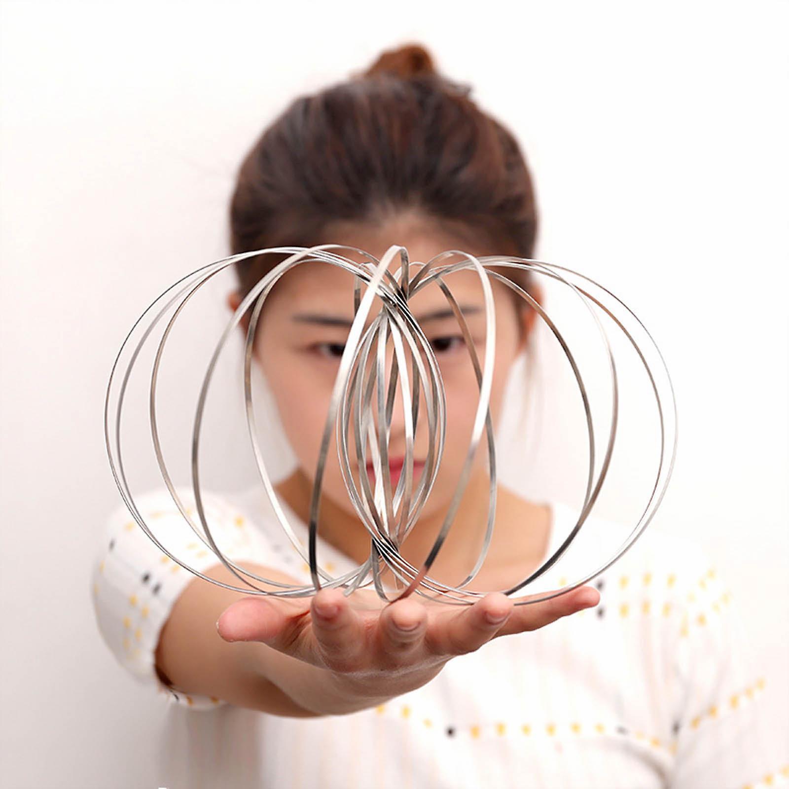 Jigsaw Ring Magic Ring Intertwined Rings Anti-Stress Silver