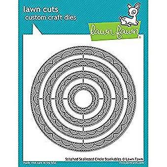 Lawn Fawn Outside In Stiched Scalloped Circle Stackables Dies (LF1504)