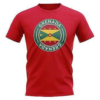 Grenada Football Badge T-shirt (röd)