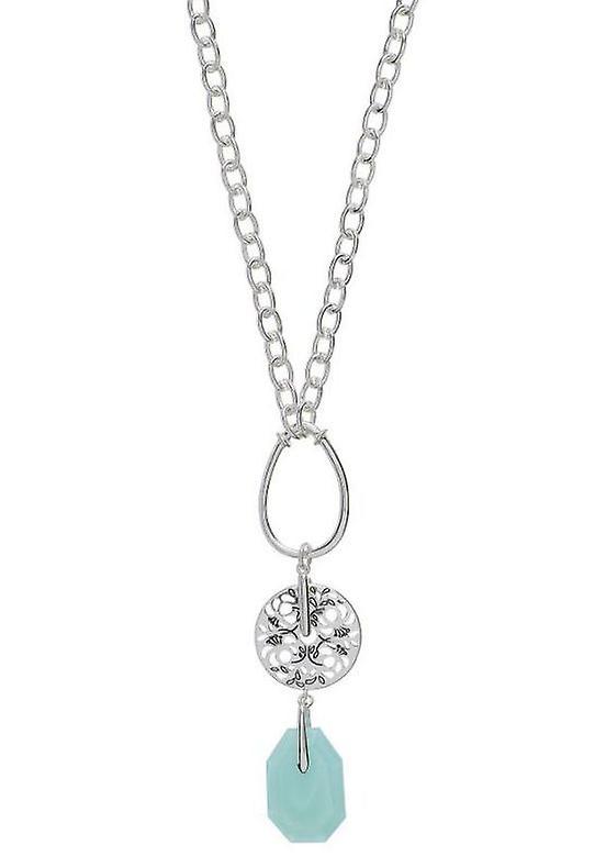Pilgrim Damenkette blommiga boho mynta/silver (531421)