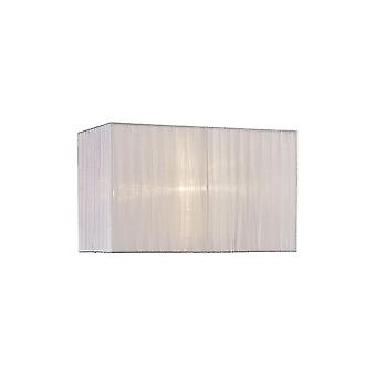 Diyas Florence Rectangle Organza Shade, 380x190x230mm, Blanc, Pour Lampe de table