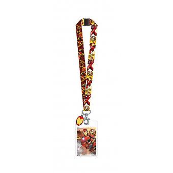 Lanyard - Marvel - Iron Man w/Soft Touch Dangle New 69032