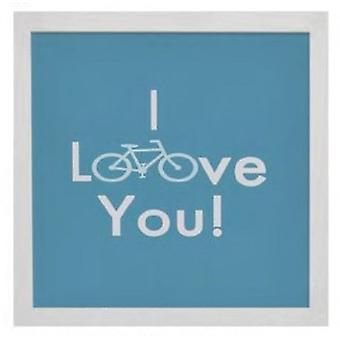 Wellindal Box printed with message  I love you  34x34x1,9 cm