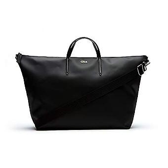 Lacoste L.12.12 Concept Negro Bolsa de Correa para Mujer (Negro) 21x36x42.5 centímetros (Ancho x Alto x L)