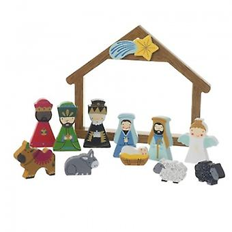 Heaven Sends Boxed Wooden Nativity Scene | Gifts From Handpicked