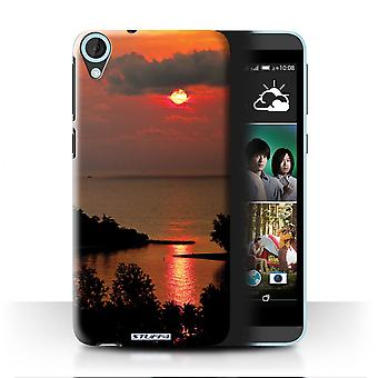 STUFF4 Tilfelle/Cover for HTC Desire 820s dobbelt/rød Sun/Sunset natur
