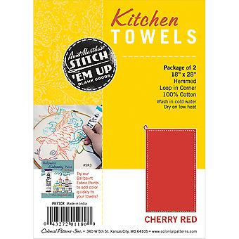 Hemmed Color Dyed Kitchen Towels 18