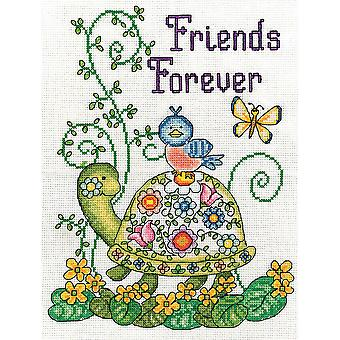 Friends Forever Turtle Counted Cross Stitch Kit 8