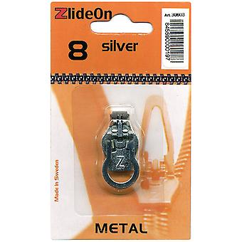 Zlideon Zipper Pull Replacements Metal 8 Silver 3060 3