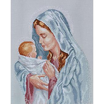 The Blessed Mother Counted Cross Stitch Kit 12