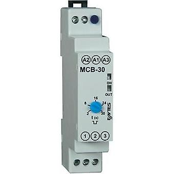 TDR Monofunctional 24 Vdc, 24 Vac, 230 Vac 1 pc(s) ENTES MCB-30 ATT.FX.TIME-RANGE: 2 - 20 secs 1 change-over