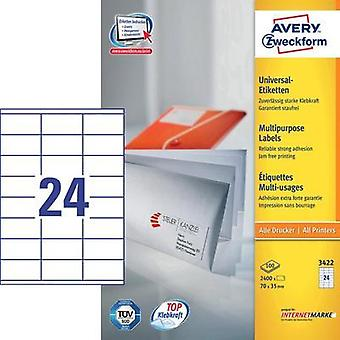 Avery Universal Labels, White 70x35mm Avery-Zweckform 3422