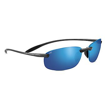 Serengeti Nuvola Sunglasses (Metallic Black/Polar PhD 555nm Blue)